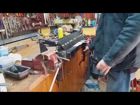 DIY metal folder in action