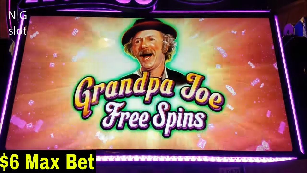 World Of Wonka Slot Machine GRANDPA JOE Bonus Win And