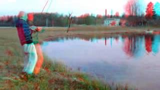 Fishing 3D Cyan&Red