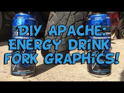 DIY APACHE: Energy Drink Fork Graphics!