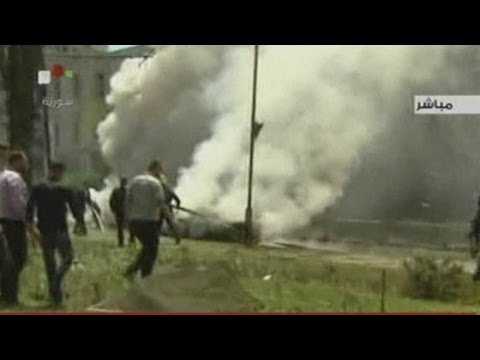 Dramatic video: Bomb in Damascus kills 13 and wounds 70 others