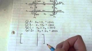 Finite Math 2.3 - Matrix Traffic Example