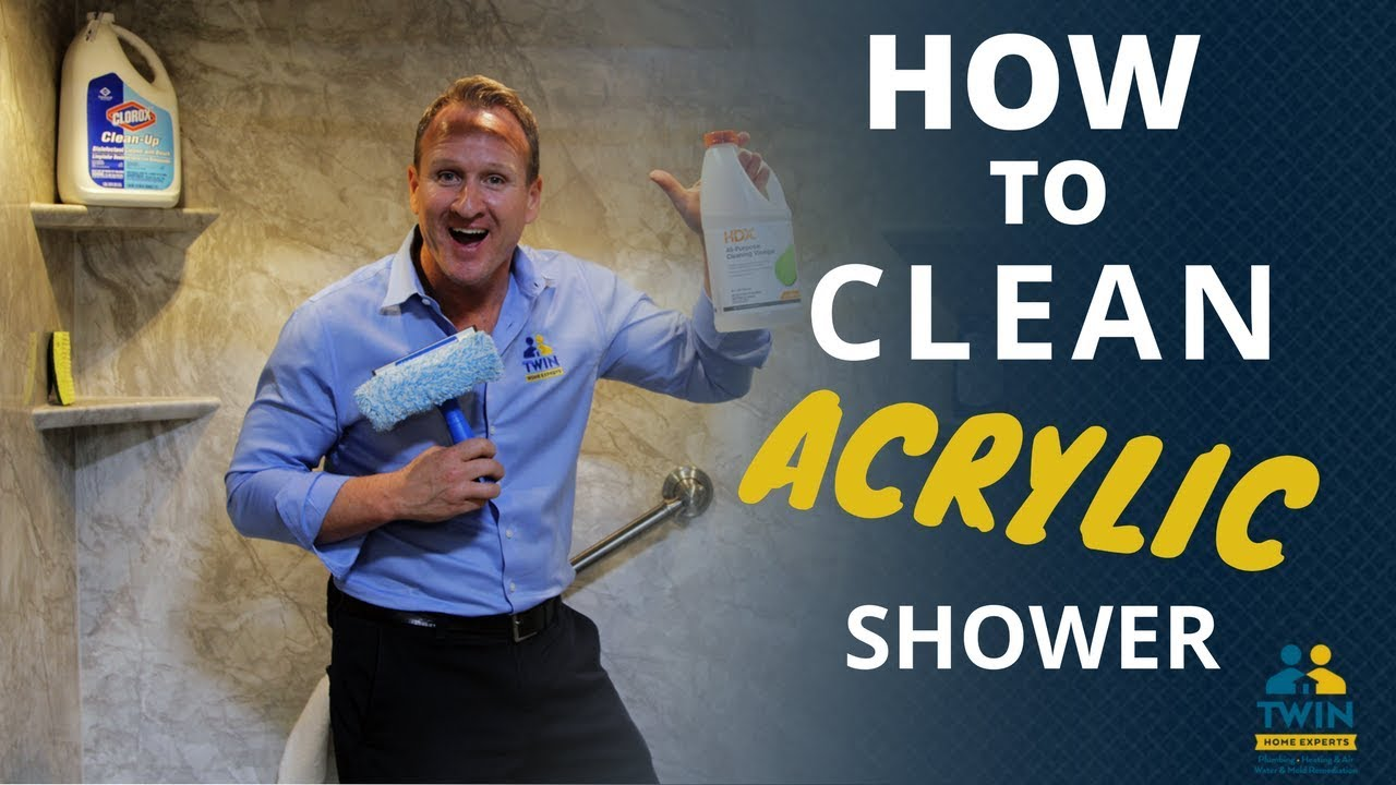 How to clean acrylic tubs and shower walls ? - YouTube