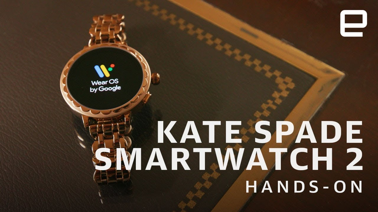 buy popular 1be5d d4bb7 Kate Spade Scallop Smartwatch 2 Hands-On: Android Wear in a prettier  package at CES 2019