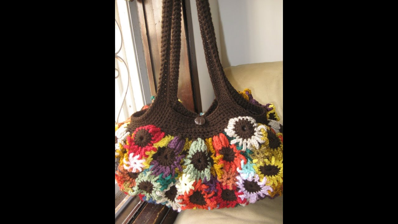 Crochet Flower Purse Tutorial 1Making the FlowersYouTube
