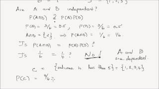 Probability Lesson 6: Independent Events