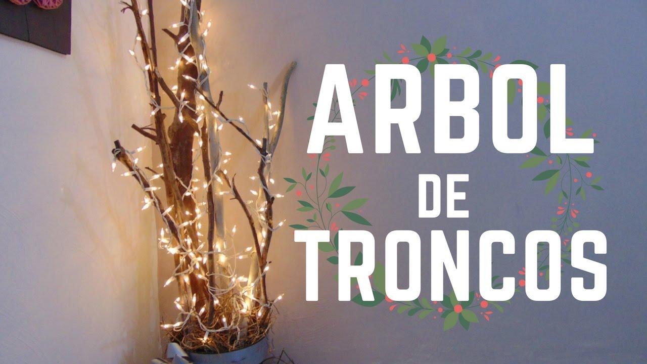 Decoración Navideña árbol De Troncos Eo025