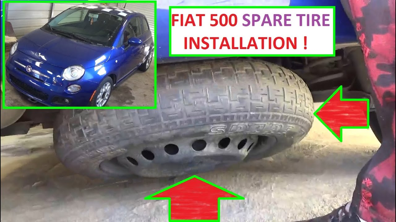 spare tire removal and installation on fiat 500 how to put spare tire [ 1280 x 720 Pixel ]