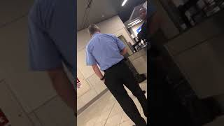 GUY GETS INTO DISCUSSION WITH AIRPORT SECURITY