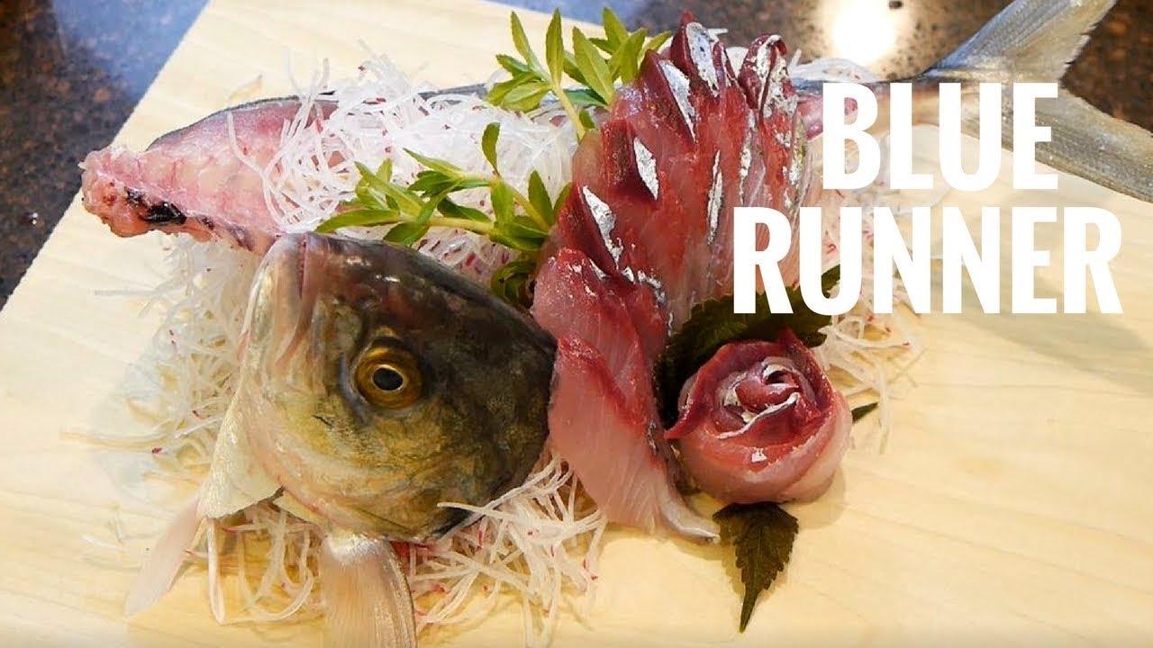Blue runner sushi how to cut fish for sushi sashimi for Blue fish sushi