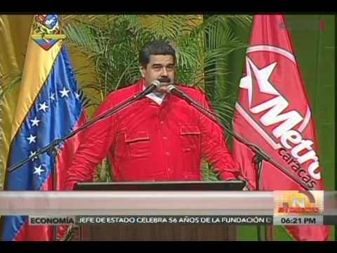 Presidente Maduro celebra 39 años de fundación del Metro de Caracas