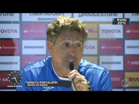 Técnico do Grêmio admite que mandou espionar adversário argentino | SBT Brasil (21/11/17)