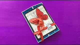Handmade Butterfly Birthday card idea   Birthday Card Making at Home   complete tutorial
