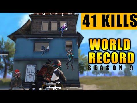 41 SOLO KILLS WORLD RECORD ||  Solo vs Squad Season - 9 || PREDATOR PUBG MOBILE