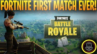 Fortnite: Battle Royale - First Match ever! (Free to play) gameplay