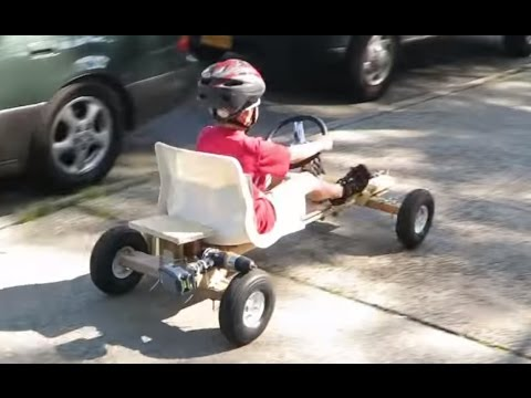 How To Build Homemade Electric Drill Go Kart
