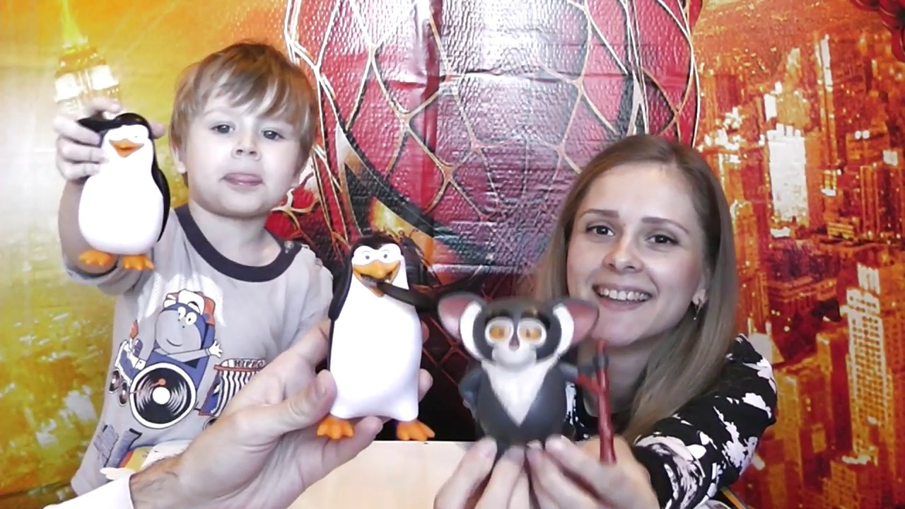 Пингвины из Мадагаскара игрушки BURGER KING