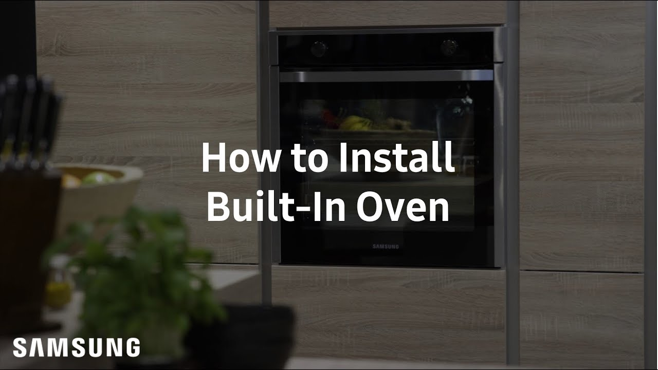 Samsung Built In Oven Installation Guide