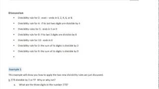 math worksheet : divisibility tests with videos worksheets  lesson plans  : Divisibility Tests Worksheet