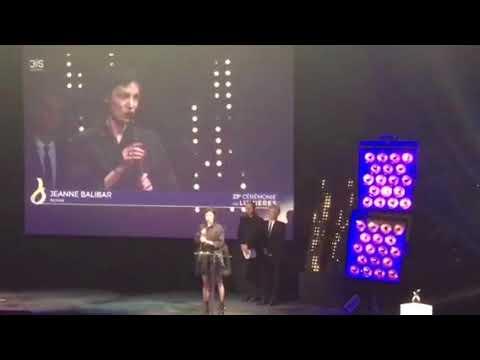 Jeanne Balibar meilleure actrice à la cérémonie des Lumières 2018