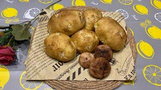 Bánh bao tạo hình khoai tây mọc mầm🥔😝|YÊU BẾP YÊU PET