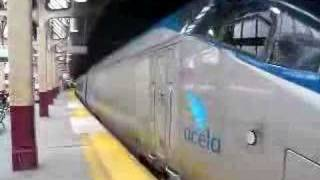 Amtrak Acela Train 2253 departs westbound from Newark-Penn