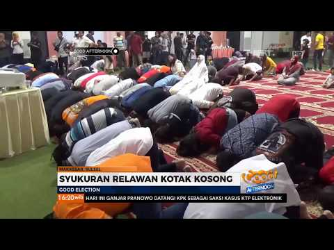 Syukuran Relawan Kotak Kosong Di Makassar