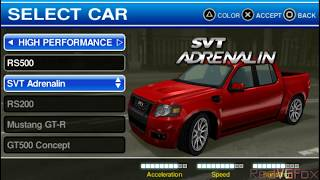 Ford Bold Moves Street Racing / L.A. Duel / XR Edition - PSP Racing Gameplay