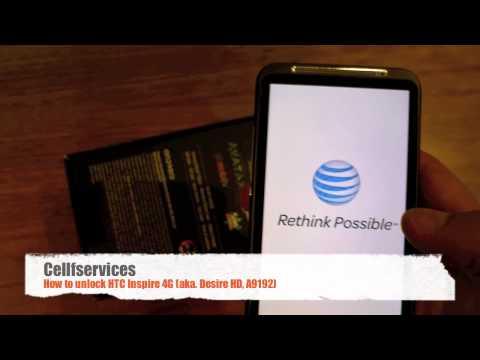 How to Unlock HTC Inspire 4G (Desire HD, A9192) - AT&T, Telus, Vodafone, O2, Orange, 3 Hutch, Bell