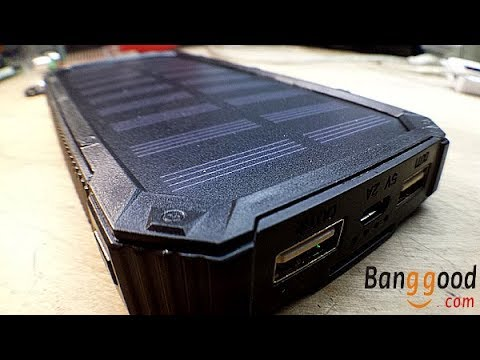 Banggood 8000mAh Solar Power Bank Teardown and Review
