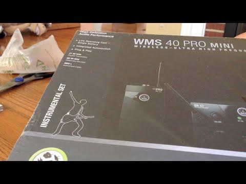 AKG WMS 40 Pro Mini Wireless Instrument System - Unboxing