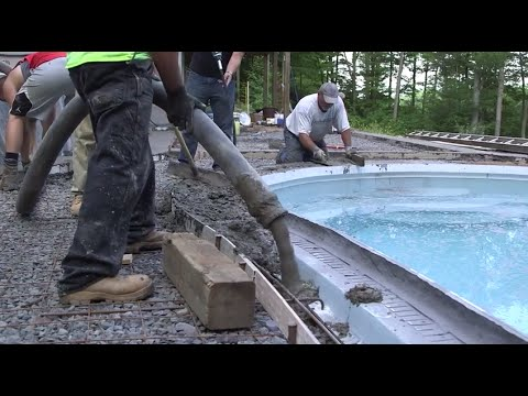 Forming and Pouring Concrete Pool Coping with Z Poolforms