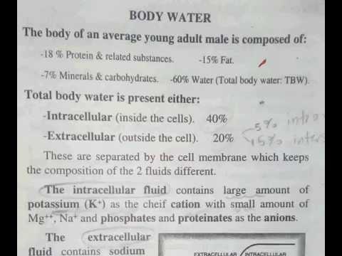 شرح فسيولوجي 101 من صفحة 17 لصفحة 21 Body Water