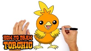 How to Draw Torchic | Pokemon