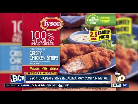 MORNING NEWS - Tyson Chicken Strips Recalled