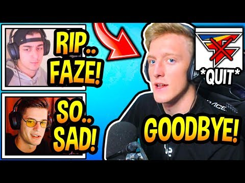 "Streamers *SHOCKED* After Tfue ""LEAVES"" & ""SUES"" FaZe Clan! (RIP) Fortnite Moments"