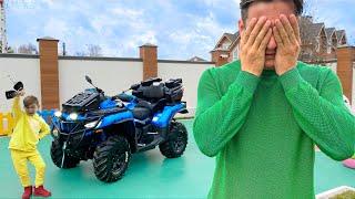 ТАКОЙ ПОДАРОК от СЕНИ Папа НЕ Ожидал! НОВЫЙ Квадроцикл CFMOTO смотреть онлайн в хорошем качестве бесплатно - VIDEOOO