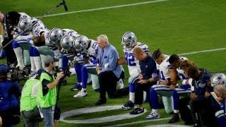 From youtube.com: NFL anthem protests {MID-168156}