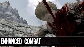 Skyrim - Mod Showcase // Enhanced Blood & Kill Move Animations