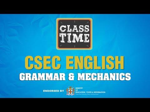 CSEC English | Grammar & Mechanics - May 17 2021