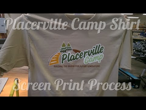Group Imaging - Camp Shirt Screen Print - Placervile - 6 Color Screen Print