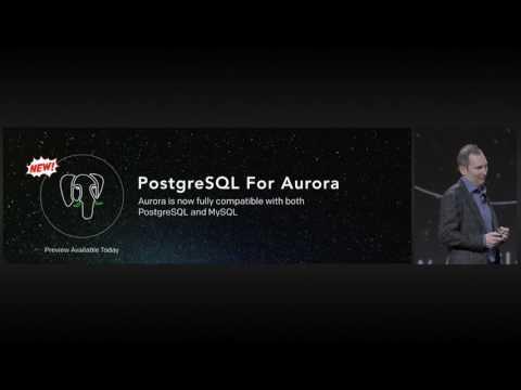 AWS re:Invent 2016: Announcing PostgreSQL compatibility for Amazon Aurora