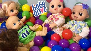 ❤️Baby Alive Real As Can Be playing in the BALL PIT with friends