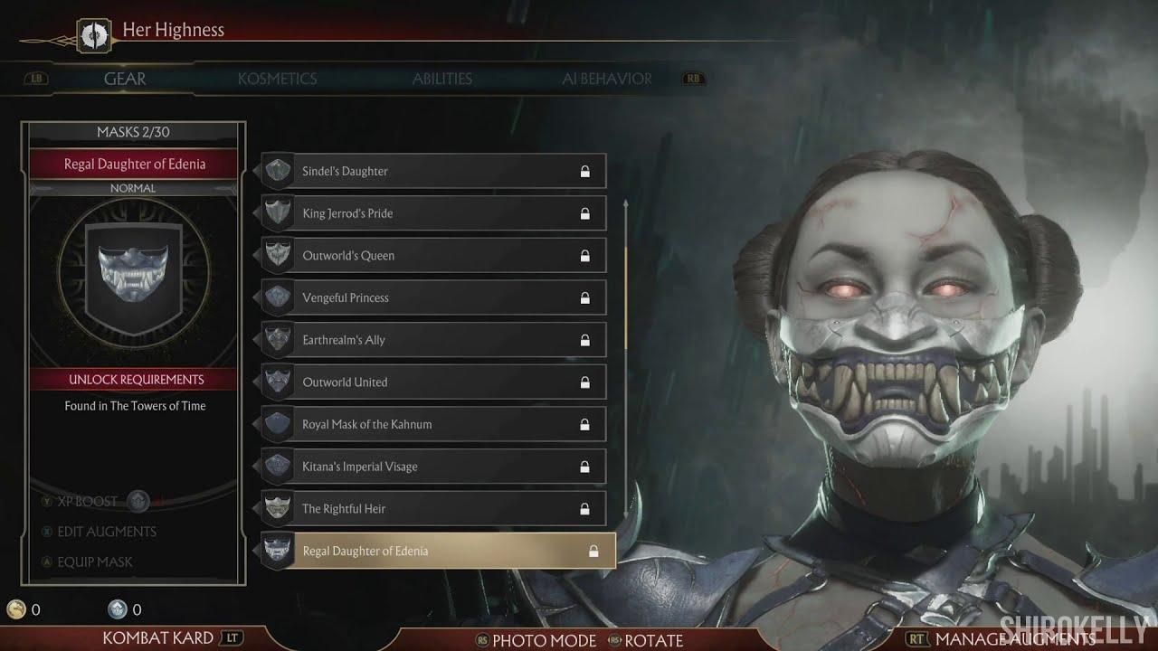 Mortal Kombat 11 Kitana Character Customization All Outfits