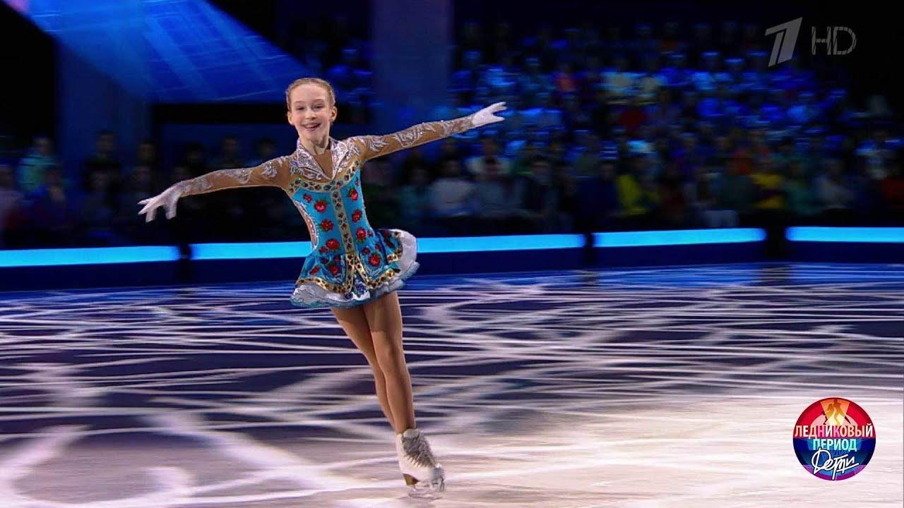 Лиза Берестовская победительница шоу Ледниковый период Дети
