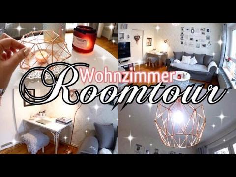 ♡ ROOMTOUR neues Wohnzimmer! ♡ Rose Gold - Weiß - Grau ♡
