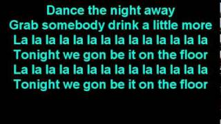 Jennifer Lopez ft. Pitbull - On The Floor Lyrics On Screen