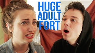 We Built A HUGE Fort (And Ran Into Some Problems)