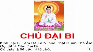 Tụng Chú Đại Bi  -5 biến - Có chữ To Dễ đọc cho Phật tử chưa thuộc -Thầy Thích Trí Thoát tụng