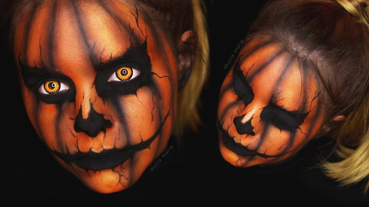 Creepy halloween k rbis makeup tutorial youtube for Halloween decorations u can make